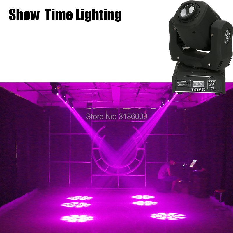 Show Time 60W Mini LED Gobo Moving Head 8 Kinds Colors& Images Spot Light Club DJ Stage Lighting Party Disco Moving Heads Light