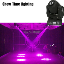 Show Time 60W Mini LED gobo Moving Head 8 kinds colors& images Spot Light Club DJ Stage Lighting Party Disco Moving heads Light free shipping 4 heads 60w led mini beam moving head light professional stage dj lighting dmx controller disco projector lasers