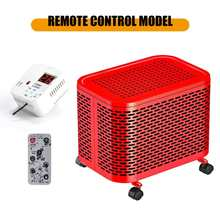 220V 2000W Remote Control Air Heater Electric Heater Warm Air Handy Blower Room Fan Radiator Warmer For Office Home Hotel
