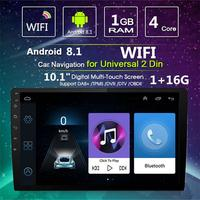 Android 8.1 10.1inch Touch Screen Car MP5 Player Quad Core 2 Din Stereo Radio Wifi Navigation Smart Car GPS Integrated Machine