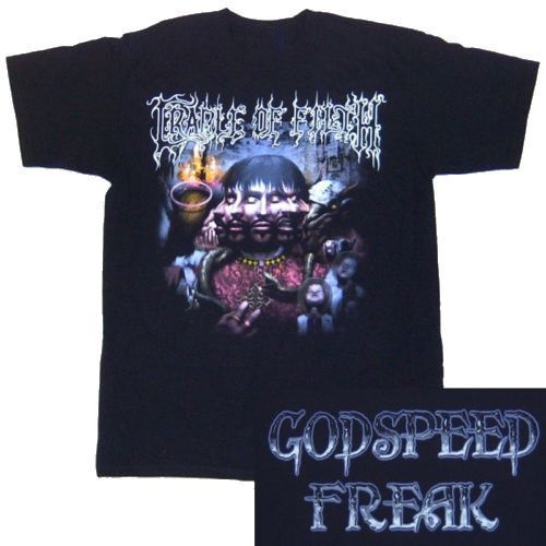 Band T Shirts Cradle Of Filth Godspeed Freak Männer Grafik Oansatz Kurz-sleeve Tees