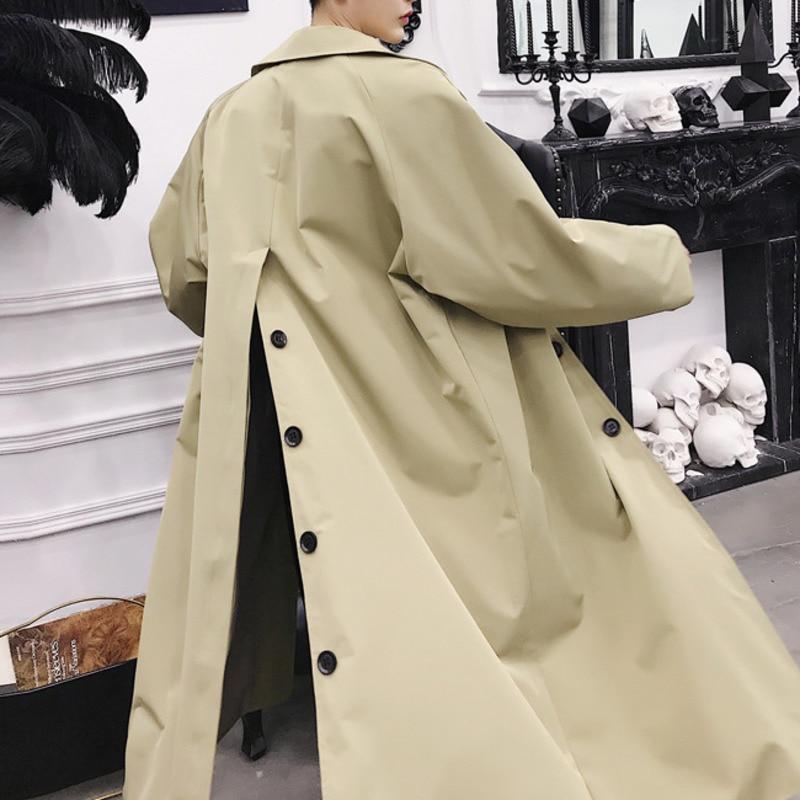Fi273 Col À Nouveau Turn Coupe Manteau Khaki Split 2019 Printemps Plus  Longues De Mode Femmes Manches down Personnalité Retour vent Shengpalae  w0n5qH4xW8 f444d1b7721