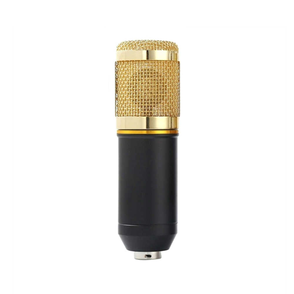 BM800 Professional Suspension Microphone Kit Studio Live Stream Broadcasting Recording Condenser Microphone Set Gold/Silver