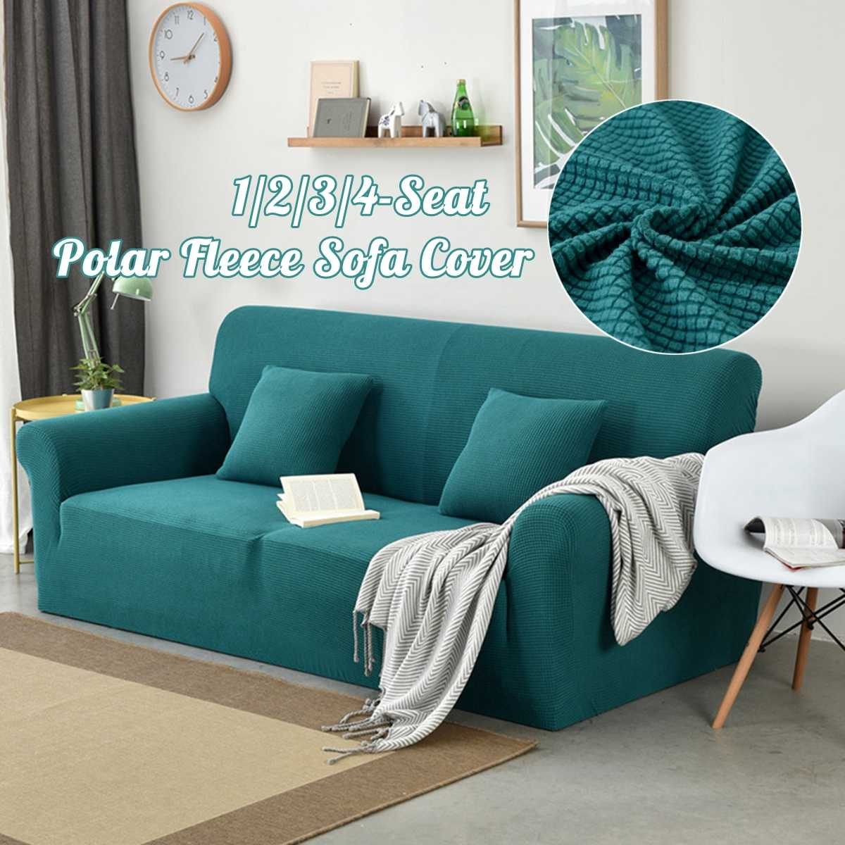 Home Textile Wliarleo Knitting Sofa Cover All-inclusive Elastic Sofa Bed Without Armrest High Quality Couch Cover Solid Folding Funda Sofa Beautiful In Colour Table & Sofa Linens