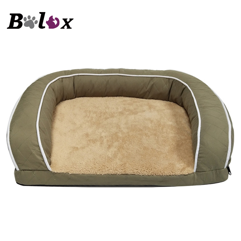 Pet Sofa Dog Beds For Large Dogs Thicken Warm Fleece Cat Bed House Winter Dog Sofa