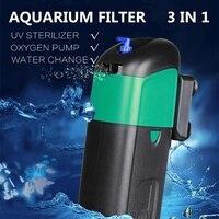 5W/9W Aquarium Sterilization Filter Built in Filter Aquarium Air Pump Mute Uv Light Filter For Fish Tank Plus Power Filter Pump