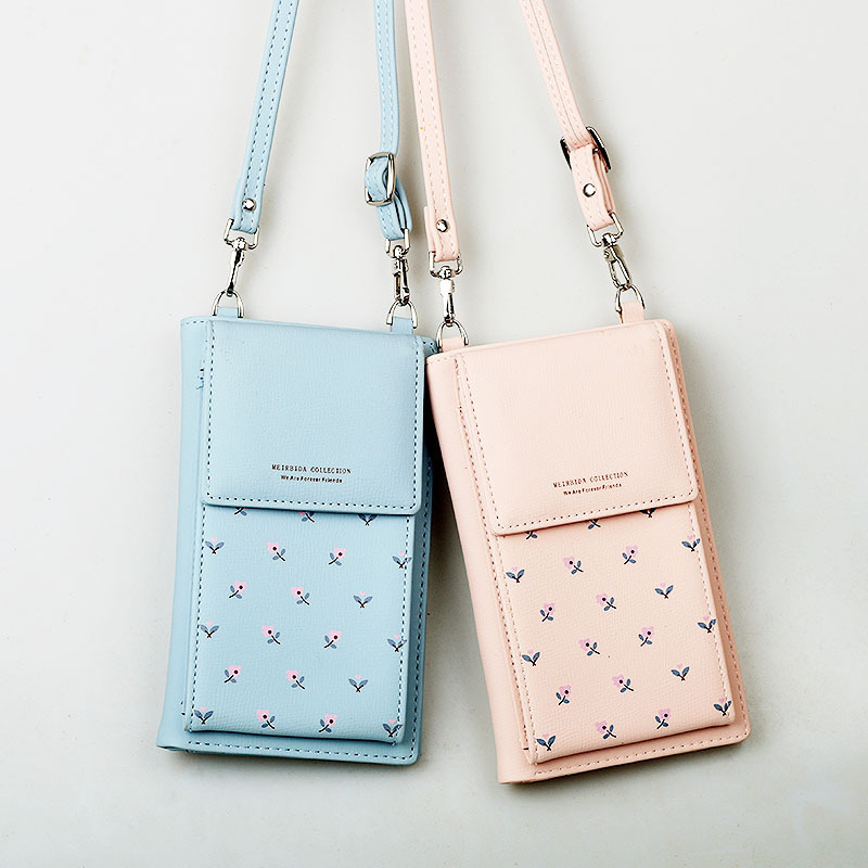 2018 New Style Mobile Phone Pouch For Korean-style Print Women Shoulder Bag Multi-function Cross-body Mobile Phone Wallet Duo Ka To Produce An Effect Toward Clear Vision