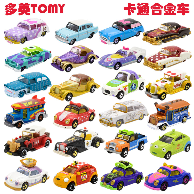 Genuine TOMICA Dome Card TOMY Disney Cars Ice Romance Alloy Mobilization Mickey Cartoon Car