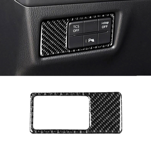 Image 2 - For Mazda CX 5 CX 5 2017 2018 Carbon Fiber Car Headlight Switch Panel Cover ONLY LHD