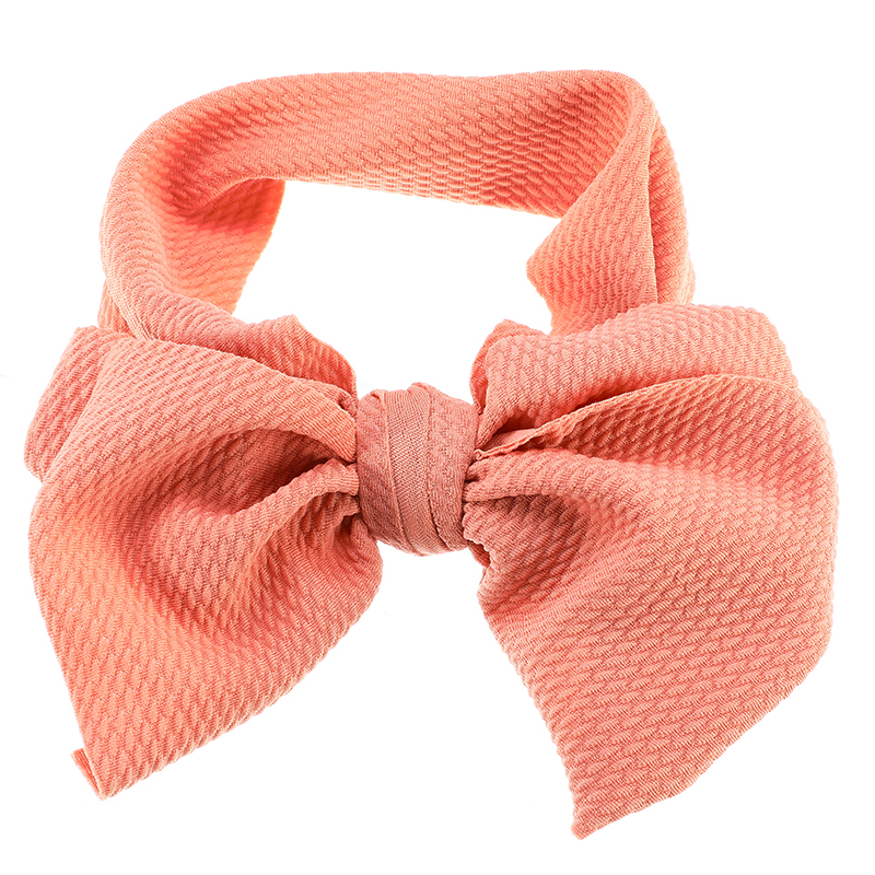 7 Inch Big Bow Headband Multicolor Child Hair Band Accessories Girl Bow Stretch Headband  Decoration Gift Cute Red Peach Yellow
