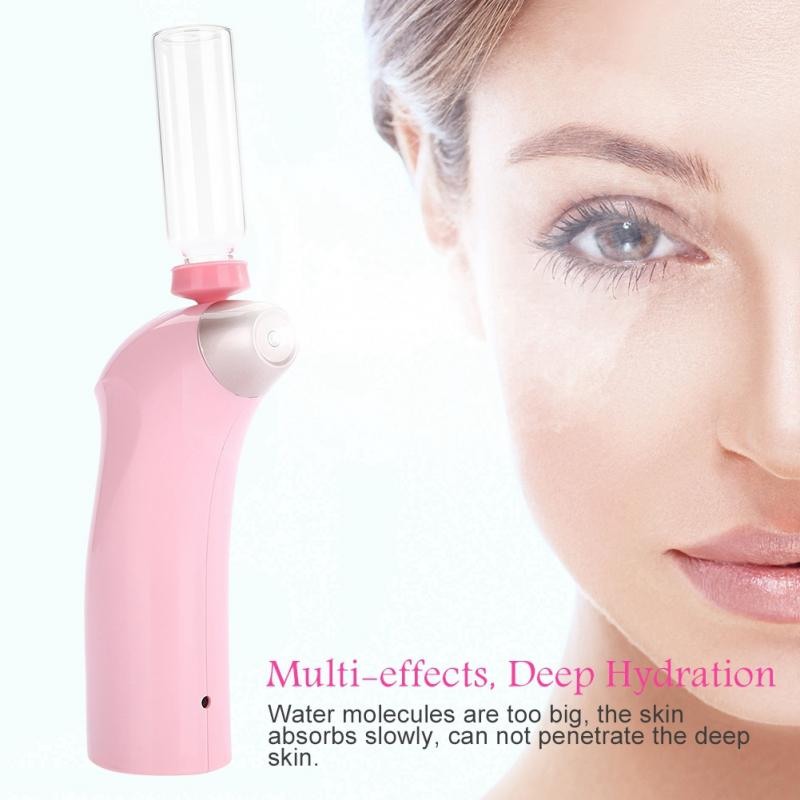 Water Injection Spray Gun For Facial Skin Rejuvenation Beauty Machine Atomizer Massager Facial Humidification Steaming Face 2types oxygen water skin care injection spray facial beauty wrinkle remove rejuvenation machine for skin cleaning moisture