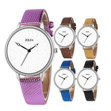 ZOLFA Casual Simple Scale Retro Ladies Watch Fashionable Creative Pointer White Dial Wrist Quartz Watches For Women Students