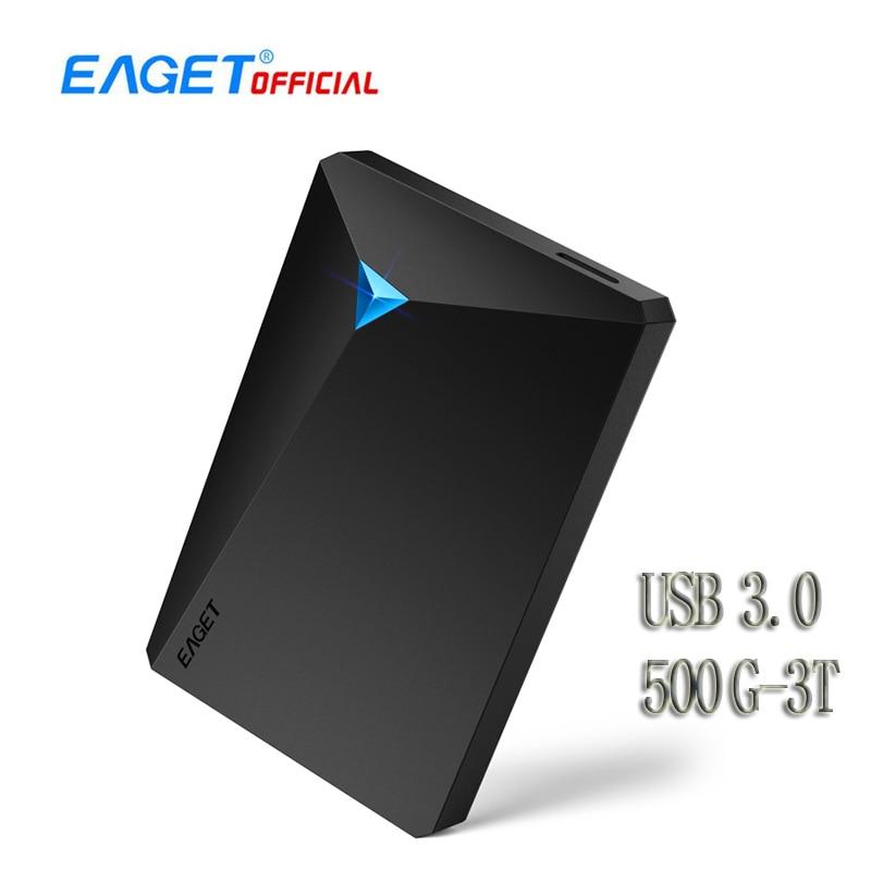 EAGET G20 Encryption External Hard Drive Desktop 500GB 1TB 2TB 3TB High Speed Mobile Hard Disk USB 3.0 for Laptop TV PC Phones
