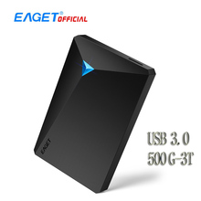 EAGET G20 Encryption External Hard Drive Desktop 500GB 1TB 2TB 3TB High Speed Mobile Hard Disk USB 3.0 for Laptop TV PC Phones