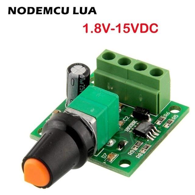 US $1 0 40% OFF|1 8v 3v 5v 6v 7 2v 12v 2A 30W DC Motor Speed Controller  1803BK Mini Motor Speed Regulator controls PWM Adjustable Driver Switch-in