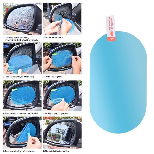 Car Anti Water Mist Film Rainproof Waterproof Universal Car Oval Protective Film Rear-view Mirror Round Drop Shipping #0911