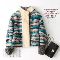 Дубленка норка воротник натурального меха пальто с мехом хорошего качества овчина Модные Узкие женские женская куртка новая мода