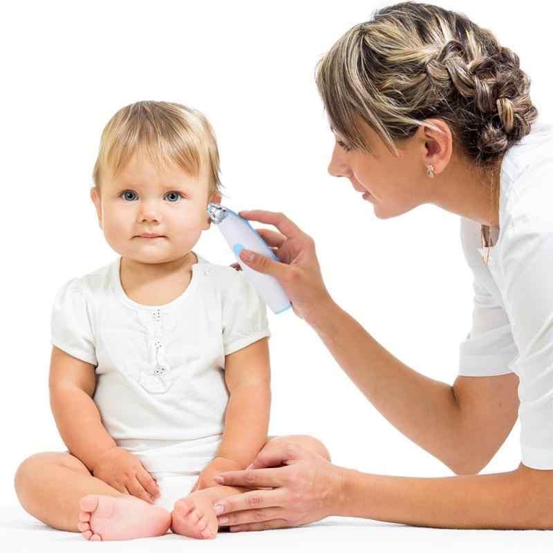 Электрический удаления ушной серы комплект Силиконовые головы для чистки ушей инструмент для детей взрослых Электрический удаления ушной серы инструментов светодиодный свет уха Чистый