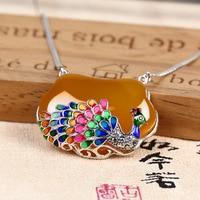 2018 Sale New Collares Kolye Choker Jia Shun Tai Long Sweater Chain Necklace The Peacock S925 Is A Female Thai Pendant Jewelry