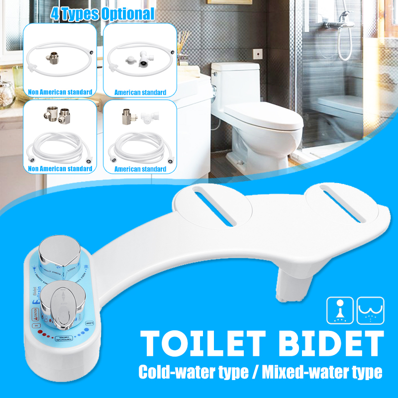 Non Electric Bidet Toilet Seat Attachment Cold Water Nozzle 15 16 Tee Joint