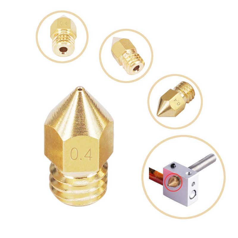 MK8 сопло 0,4 мм 0,3 мм 0,2 мм 0,5 мм медные детали для 3D принтеров экструдер Резьбовая 1,75 мм 3,0 мм Головка накаливания латунные сопла Часть