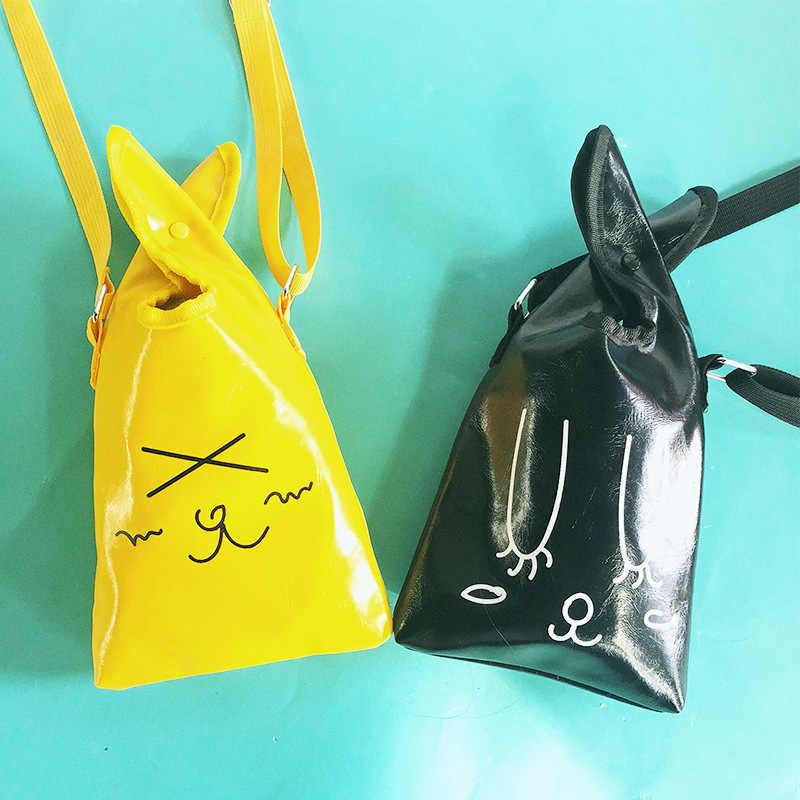 2019 Новая Летняя женская модная сумка для телефона из искусственной кожи с милым выражением, студенческий Кошелек для монет, Женская Повседневная сумка для карт OC183