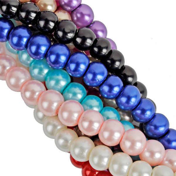 4 6 8 10 Mm Kaca Mutiara Pesona Perhiasan Temuan Panas Berkualitas Tinggi Pengatur Jarak Manik-manik Longgar Grosir Baru