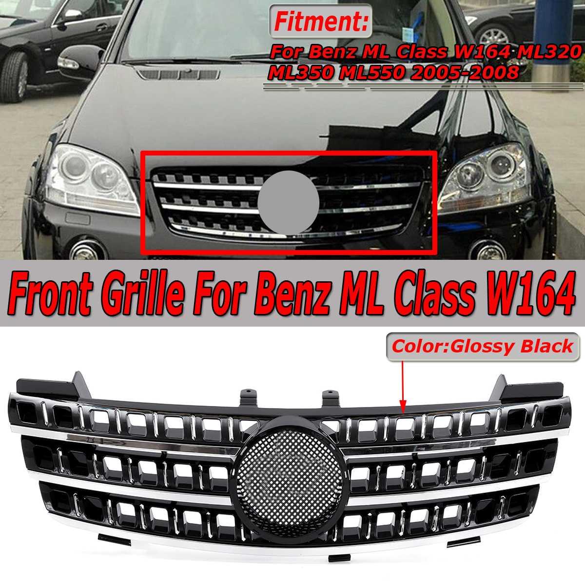 Nouvelle Voiture Pare-chocs Avant Mesh Grille Grill Pour Mercedes Pour Benz ML Classe W164 ML320 ML350 ML550 2005- 2008 Racing Grille