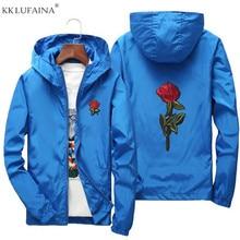 Coats Men Jackets Sportswear Windbreaker Rose-Flower Spring College Men's Woman Casual