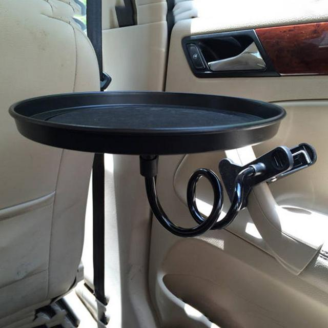 Portble Round Travelling Coffee Table, Food Tray Stand