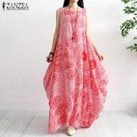 527da5760dc95f ZANZEA 2019 Women S Summer Sundress Female Print Maxi Dresses Women  Sleeveless Long Vestido Plus Size