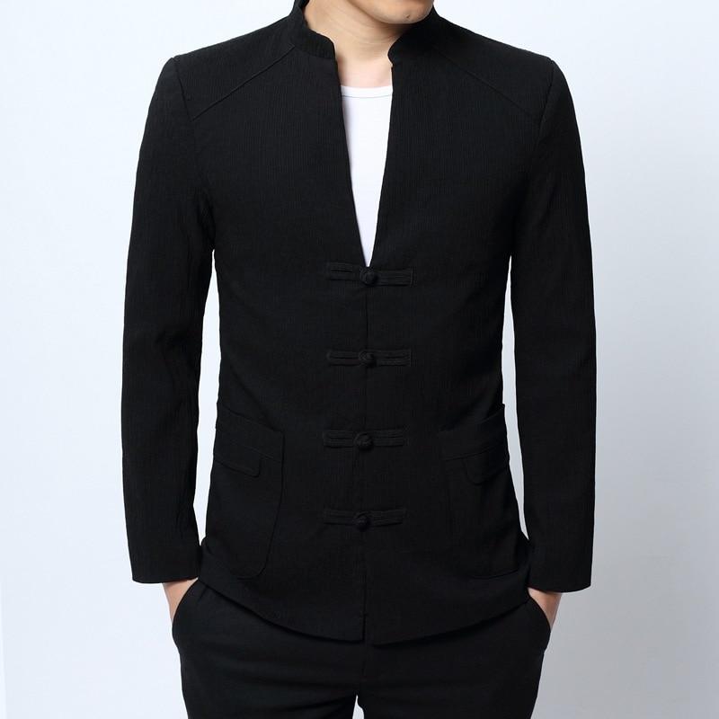 Vêtements Slim Chinois Noir De Hommes 4026 Mode Vintage Style Taille Mandarin Fit 4xl Manteau Homme Blazer Costume Plus Col ERdxzqw