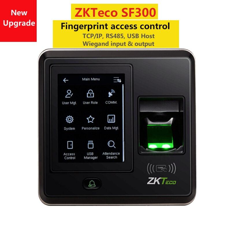ZKTeco SF300 contrôle d'accès par empreinte digitale ouvre-porte contrôle d'accès système temps Attandance noir/blanc au choix