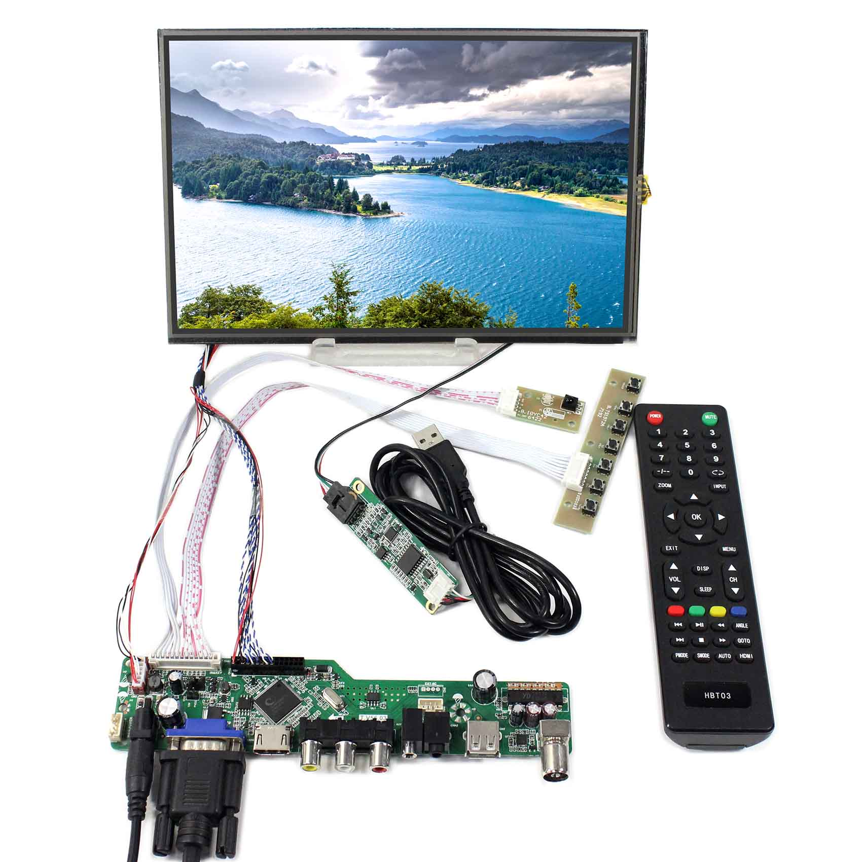 10.1inch M101NWWB 1280X800 LCD Screen With Resistive Touch Panel  and HDMI VGA AV USB RF LCD Controller Board|Replacement Parts & Accessories| |  - title=