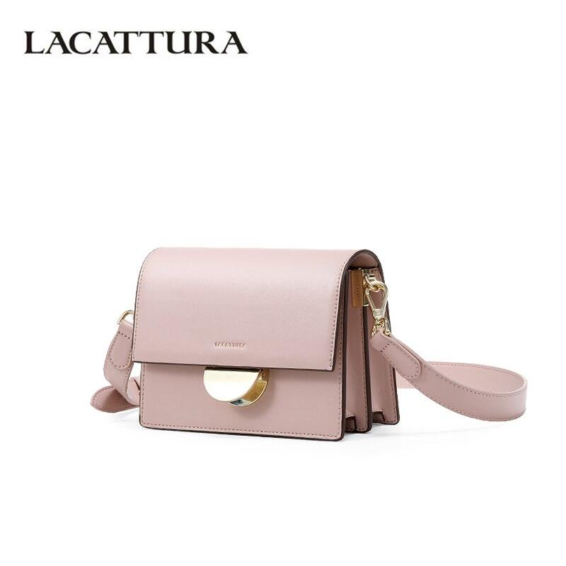 LACATTURA Women Shoulder Small Bag 2019 Luxury Designer Handbags Ladies Messenger Organ Bags Fashion Crossbody for