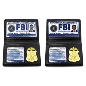 Card-Holder Badge Playing-Toys Id-Cards Supernatural Dean Police Winchester FBI Kids