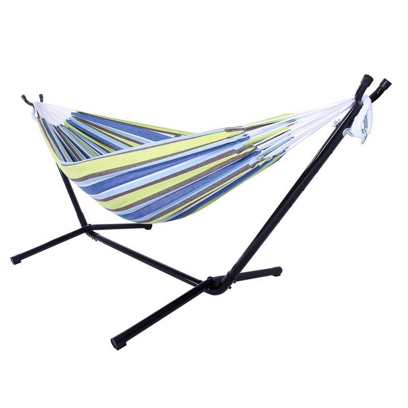 Ensemble de hamac en Polyester extérieur Portable vert adapté au Camping en plein air, aux voyages, à la plage et à l'intérieur