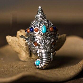 Слон индийский Ганеша Таиланд буддийский молитвенный кулон Pikanet ювелирные изделия амулет без цепи