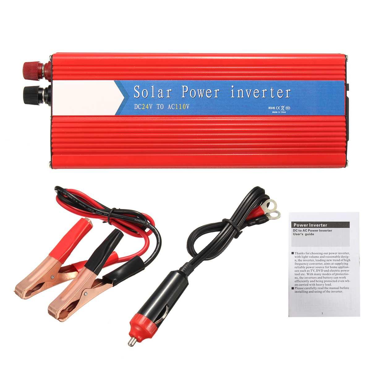 10000 W voiture onduleur 12/24 V à AC 220/110 V USB modifié convertisseur à onde sinusoïdale robuste Durable rouge universel Intelligent - 5