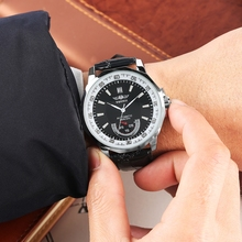 Men's Polygon Shaped Dial WINNER Automatic Watch Men Watches Black Business Sports Leather Top Brand Luxury Clock Reloj Hombre цена