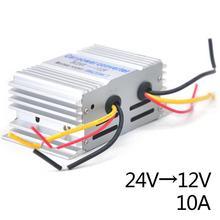 10a 24 v a 12 v 180 w potência do carro conversor de transformador step down escudo da liga de alumínio