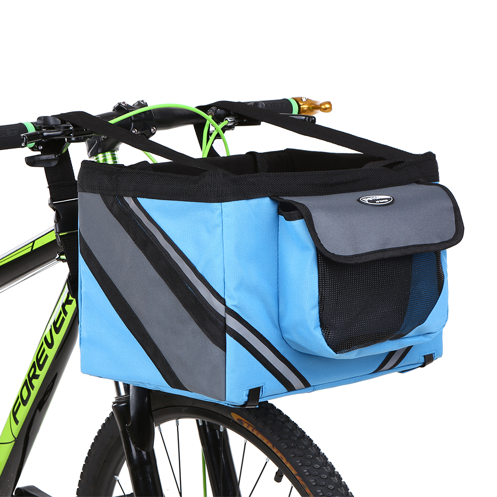 Bicycle Basket Handlebar Front Frame Pannier Cycling Carrier Holder Bike Riding Pouch Cycle Biking Front Baggage