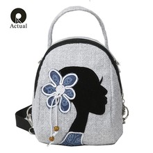 Fashion Printing Women Backpack Multifunctional Casual Shoulder Crossbody Bag Female Daily Travel Practical Portable Backpack