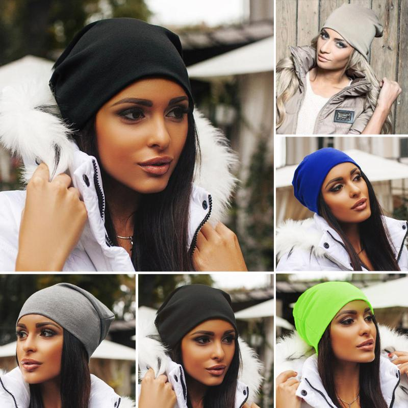 Fashion Knitted Winter Warm Ski Crochet   Beanie   Hip-Hop Hat Punk Unisex Men Women Cap Cotton   Skullies   Blends   Beanie