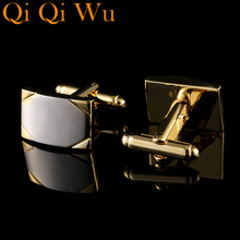 2017 NEW HOT Luxury Shirt Cuff link for Men's Gifts Unique Wedding Gold Cufflinks For Mens Business Gift Suit Sleeve Buttons vintage sell high buy now stock market cufflinks for men shirt cuff buttons business sleeve nail steel brothers gift for friend