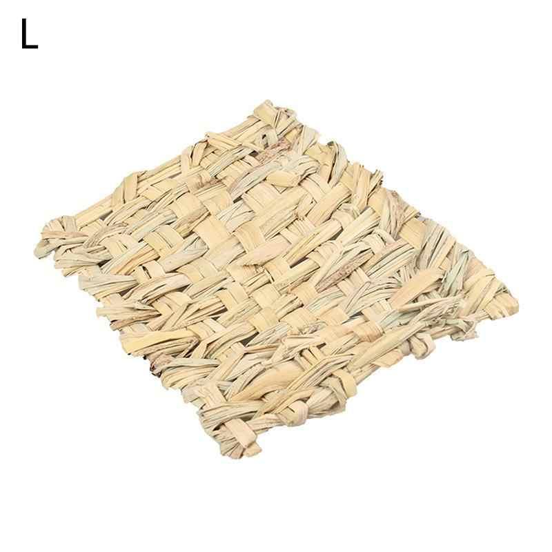 Kecil PET Tenunan Tangan Air Tikar Bambu Kecil Permainan Hewan Peliharaan Tidur Nest untuk Hamster Bahasa Belanda Kelinci Babi Goreng Rumput tempat Tidur