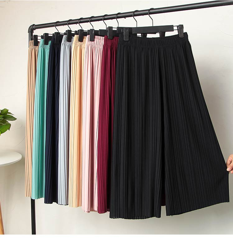 Summer Female   Pants   Women High Waist Loose Wide Leg   Pants   Spring Casual Trousers Solid Ladies Pink Thin Long   Pants