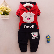 Childrens Spring and Autumn Cotton Suit Two-piece for Babies, 19 New Korean Edition KidsSportswear