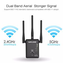 750Mbps 5GHz 2.4GHz Wireless Wifi Extender Repeater Router Network Booster Wireless Bridge With 3 External Antennas US/EU Plug(China)
