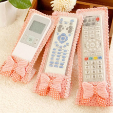 Lace-Cover Remote-Control-Set Fabric for Small-Size Gypsophila Bow-Knot-Pattern